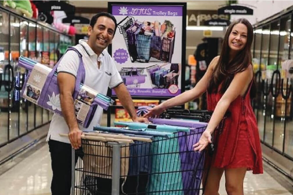 Lotus Trolley Bag Founders-Farzan and Jennifer Dehmoubed