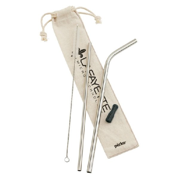 Perka® Avila 5-Piece Stainless Steel Straw Set - starts at $4.49 Image