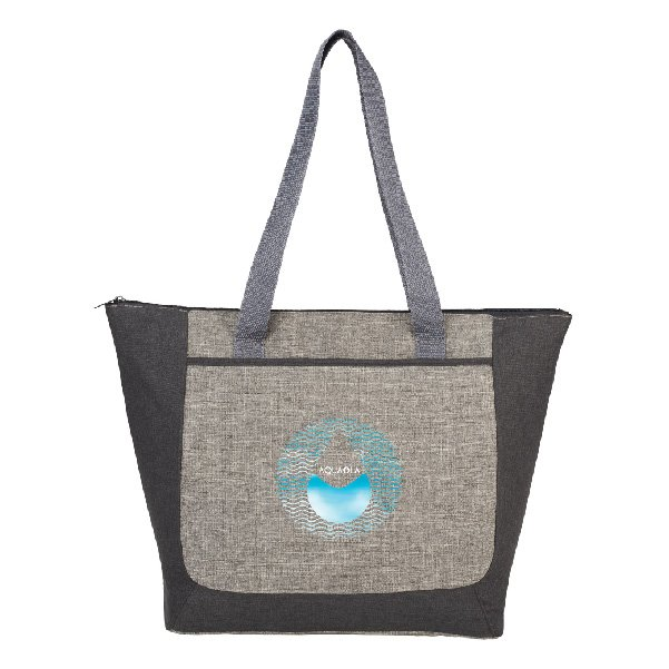 Reclaim Two-Tone Recycled Zippered Tote - starts at $8.48 Image