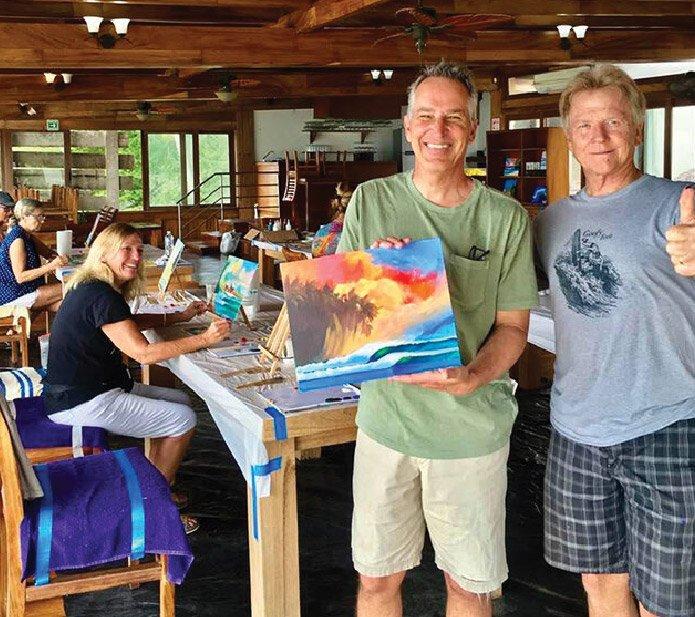 Wade Koniakowsky-Painting Retreat-Punta Mita