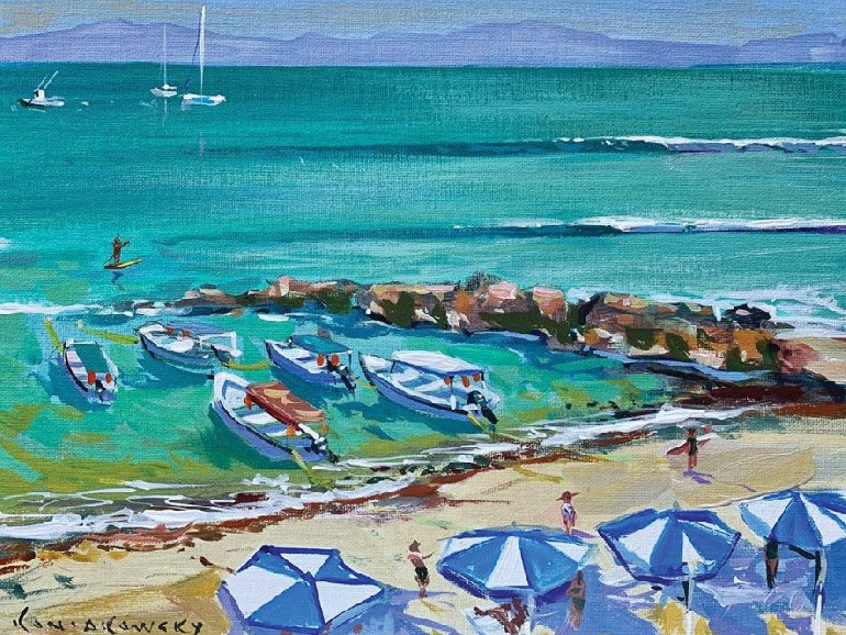 Wade Koniakowsky-Painting Retreat-Punta MitaPainting